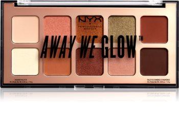 NYX Professional Makeup Away We Glow palette de fards à paupières