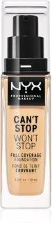 NYX Professional Makeup Can't Stop Won't Stop base de cobertura  total