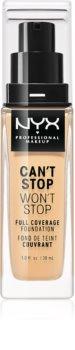 NYX Professional Makeup Can't Stop Won't Stop podkład mocno kryjący