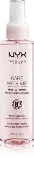 NYX Professional Makeup Bare With Me Prime-Set-Refresh Multitasking Spray легкий мультифункціональний спрей