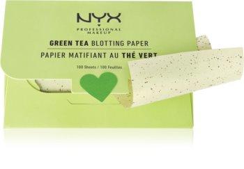 NYX Professional Makeup Blotting Paper papieriky na zmatnenie so zeleným čajom