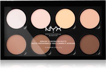NYX Professional Makeup Highlight & Contour PRO kontúrovacia paletka na tvár
