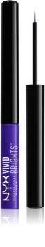 NYX Professional Makeup Vivid Brights barvno tekoče črtalo za oči