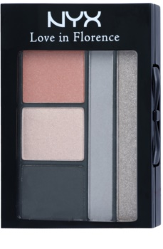 NYX Professional Makeup Love in Florence palette de fards à paupières avec applicateur