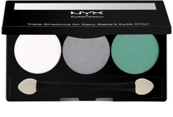 NYX Professional Makeup Triple paleta očních stínů