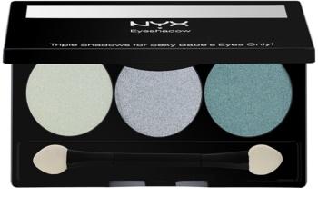 NYX Professional Makeup Triple paletka očných tieňov