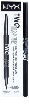 NYX Professional Makeup Two Timer svinčnik za oči 2 v 1
