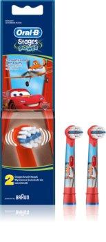 Oral B Stages Power EB10 Cars capete de schimb pentru periuta de dinti foarte moale
