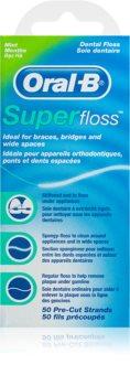 Oral B Super Floss zobna nitka za zobne aparate in vsadke
