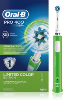 Oral B Pro 400 D16.513 CrossAction Green escova de dentes eléctrica