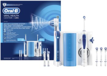 Oral B Oxyjet + PRO 2000 brosse à dents électrique + jet dentaire