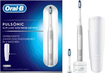 Oral B Pulsonic Slim Luxe 4200 Platinum sonična zobna ščetka