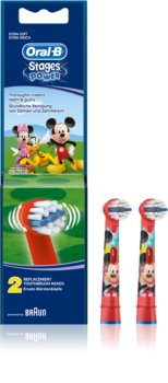 Oral B Stages Power EB10 Mickey Mouse końcówki wymienne do szczoteczki do zębów extra soft