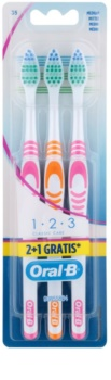 Oral B 1-2-3 Classic Care četkice za zube medium 3 kom