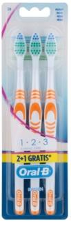 Oral B 1-2-3 Classic Care četkice za zube medium 3 kom