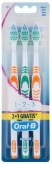 Oral B 1-2-3 Classic Care Zahnbürste Medium 3 pc