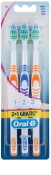 Oral B 1-2-3 Classic Care zubné kefky medium 3 ks