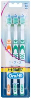 Oral B 1-2-3 Classic Care zubné kefky medium 3 ks