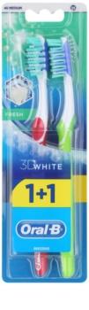 Oral B 3D White Fresh Medium Toothbrushes 2 pcs