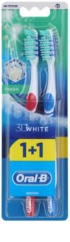 Oral B 3D White Fresh zubní kartáčky medium 2 ks