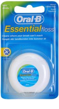 Oral B Essential Floss κέρινο οδοντικό νήμα με γεύση δυόσμου
