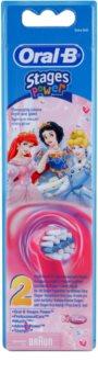 Oral B Stages Power EB10 Princess náhradní hlavice pro zubní kartáček extra soft