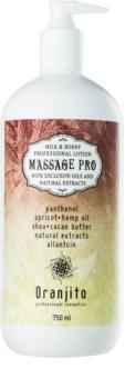 Oranjito Massage Pro masážní mléko s mlékem a medem