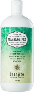 Oranjito Massage Pro masážní mléko se zeleným čajem