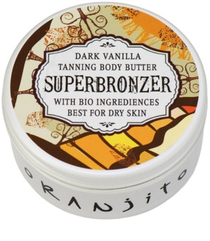 Oranjito Bio Dark Vanilla Tanning Bed Body Butter with Sunscreen