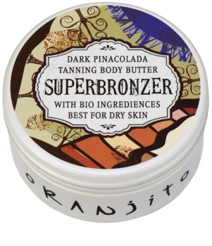 Oranjito Bio Dark Pinacolada Tanning Bed Body Butter with Sunscreen