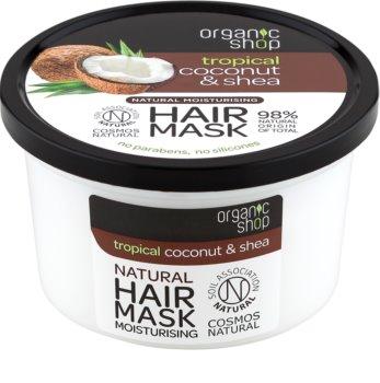 Organic Shop Natural Coconut & Shea crema intensiva de noapte cu efect de hidratare