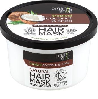 Organic Shop Natural Coconut & Shea masque cheveux intense pour un effet naturel