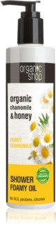 Organic Shop Organic Chamomile & Honey ošetrujúci sprchový olej