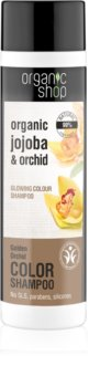 Organic Shop Organic Jojoba & Orchid shampoing adoucissant pour souligner la couleur de cheveux