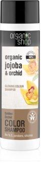 Organic Shop Organic Jojoba & Orchid zjemňující šampon pro zvýraznění barvy vlasů