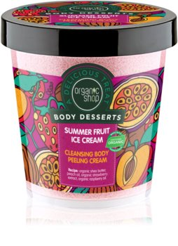 Organic Shop Body Desserts Summer Fruit Ice Cream Cleansing Scrub Cream