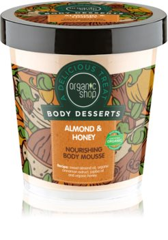 Organic Shop Body Desserts Almond & Honey Body Mousse with Nourishing and Moisturizing Effect