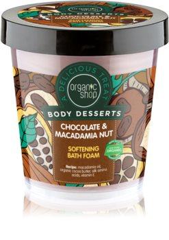 Organic Shop Body Desserts Chocolate & Macademia Nut mousse bagno emolliente