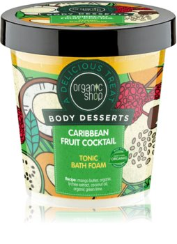 Organic Shop Body Desserts Caribbean Fruit Cocktail tonizująca piana do kąpieli