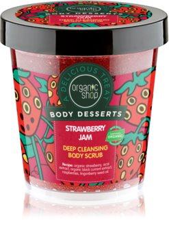 Organic Shop Body Desserts Strawberry Jam Deep Cleansing Peeling for Body