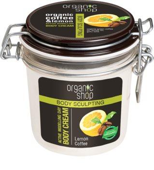 Organic Shop Body Sculpting Lemon Coffee jemný telový krém s remodelujúcim účinkom