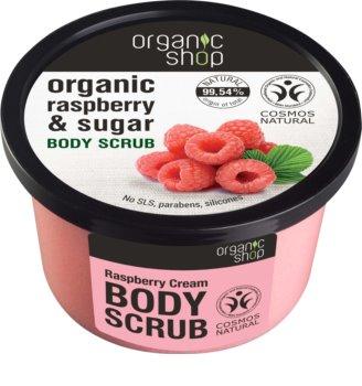 Organic Shop Body Scrub Ruspberry & Sugar peeling corporal suave