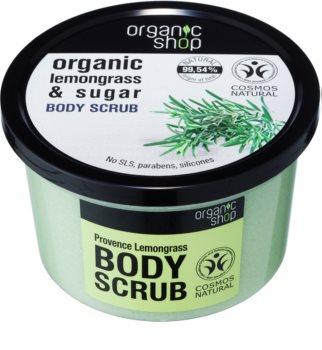 Organic Shop Organic Lemongrass & Sugar scrub delicato per il corpo
