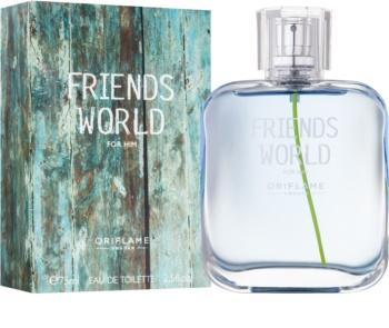 Oriflame Friends World туалетна вода для чоловіків 75 мл