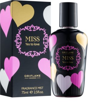 Oriflame Miss Yes To Love spray corporel pour femme 75 ml