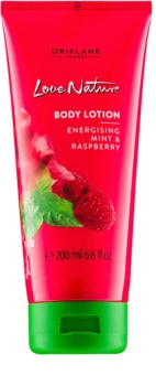 Oriflame Love Nature Body Lotion With Aromas Of Raspberries