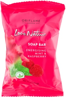 Oriflame Love Nature tuhé mýdlo s vůní malin