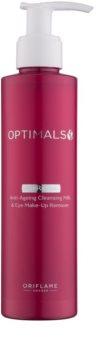 Oriflame Optimals mleko za odstranjevanje ličil za obraz in oči 2 v 1