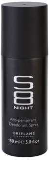 Oriflame S8 Night deodorant spray para homens 150 ml