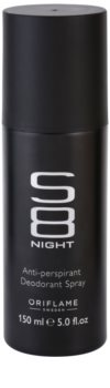 Oriflame S8 Night deospray pentru barbati 150 ml